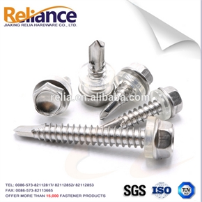 Hex Washer Head Self Drilling Screw With Plastic Washer