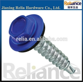 Full Threaded Blue Backing Head Zinc Plated Hex Washer Head Self Drilling Screw